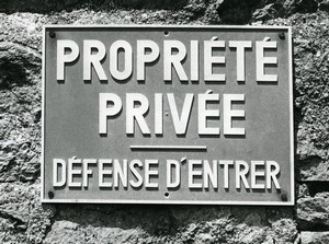 France Photographic Study Private Property Sign Old Deplechin Photo 1960