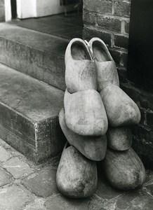 France Photographic Study Clog Sabot Old Deplechin Photo 1960