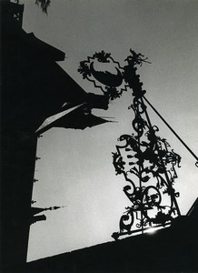 France Photographic Study Store Sign Silhouette Old Deplechin Photo 1960