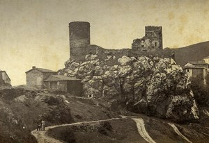 France Castle of Rochetaillee Panorama Chateau Old Photo 1892