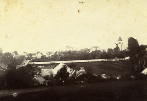 France Mortcerf Village panorama Old Amateur Photo 1892