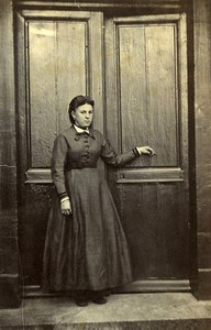 France Saint Quentin Woman Colonel Legrand Family Fashion Old Photo 1892
