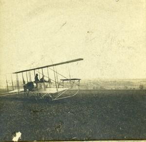 France Jarville Aviation Circuit de l Est Sommer Biplane ? Old Stereo Photo 1910