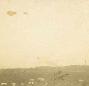 France Jarville Aviation Circuit de l Est Sommer Biplane ? Old Stereo Photo 1910