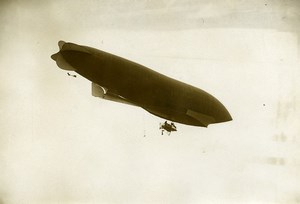 France Early Aviation Airship Balloon Lebaudy Old Photo Branger 1908