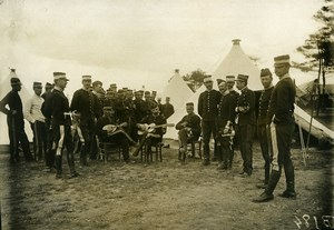 France Military St Cyr Camp of Chalons Musical Break Old Photo Branger 1910