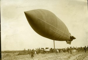 France Early Aviation Sartrouville Airship Ville de Paris Old Photo Branger 1904