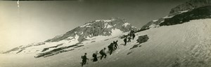 France Mountain Alps Mountaineering Old Snapshot Amateur Photo Panorama 1920