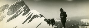 France Mountain Alps Mountaineering Stereophotographer Old Photo Panorama 1920