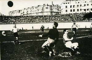 France Soccer Football Parc de Princes Match Red Star 2 Roubaix 0 Old Photo 1947