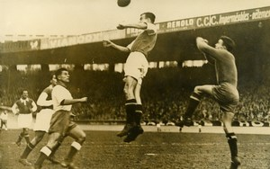France Parc des Princes Soccer Football Match Lille 2 Red Star 1 Old Photo 1947