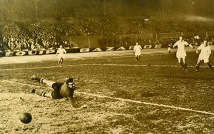 France Parc des Princes Football Match Strasbourg 5 Red Star 0 Old Photo 1947