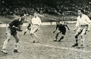 France Colombes Soccer Football Match Lens 3 Racing 1 Old Photo 1947