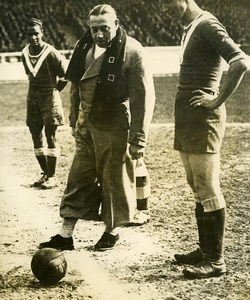 France Soccer Football Match Wrestler Charles Rigoulot Old Photo 1947