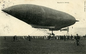France Toul Aviation Dirigible Lebaudy Old PC Postcard 1905