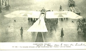 France Paris German Tauben Plane Aviation Pioneer Ace Pilot Old PC Postcard 1915