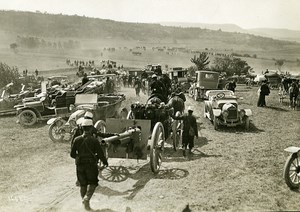France Grand Military Manoeuvres East Army Cars Gun Old Photo Meurisse 1911