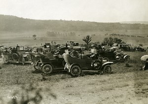 France Grand Military Manoeuvres East Army Cars Old Photo Meurisse 1911