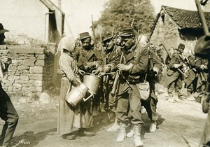 France Grand Military Manoeuvres East Army Refreshments Old Photo Meurisse 1911