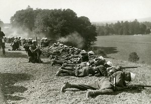 France Grand Military Manoeuvres East Army Gunmen Old Photo Meurisse 1911