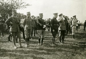 France Grand Military Manoeuvres East Army Officers Old Photo Meurisse 1911