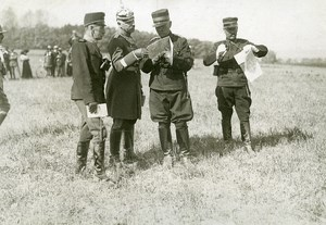 France Grand Military Manoeuvres East Army Foreign Officers Photo Meurisse 1911