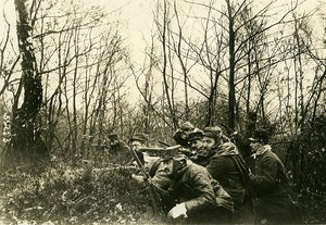 France WWI War Front Argonne Ambush Infantryman Old Photo Meurisse 1915
