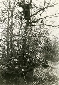 France WWI War Front Argonne Telephone Observation Post Old Photo Meurisse 1918