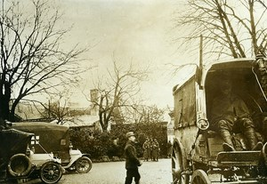 France WWI War Front Marne Soissons Ambulance Old Photo Meurisse 1918