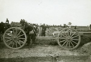 France WWI War Front Aisne Coeuvres Artillery Guns Old Photo Meurisse 1918