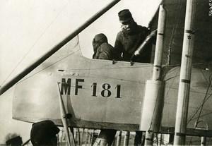 France WWI War Front Military Farman Biplane Observer Old Photo Meurisse 1915