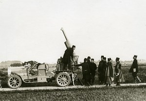 France WWI War Front Canon of 75 Anti Aircraft Gun Old Photo Meurisse 1915