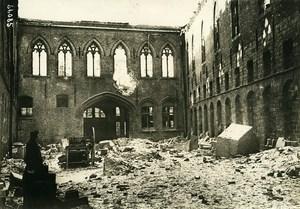 Belgium WWI Yser Front Ypres Ieper Nieuwerk Ruins Old Photo Meurisse 1915