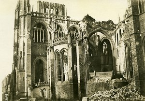 Belgium WWI Yser Front Ieper Cathedral Destruction Ruins Old Photo Meurisse 1915
