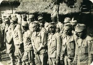 Greece WWI Orient War Salonique Troops German Prisoners Old Photo 1918