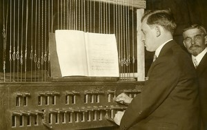 Rouen Cathedral Chime Concert Carillon Player Old Photo Rol 1931