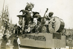 France Nice Carnival Day His Majesty's Float Old Photo Rol 1933