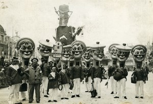 France Nice Carnival Day Sailors Old Photo Rol 1933