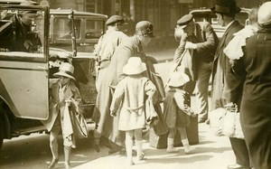 Parisians going on Holiday Railway Station Saint Lazare Old Photo Rol 1931