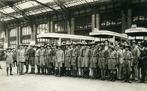 Gare de Lyon Paris French Children from Orient Holidays Old Photo Rol 1931