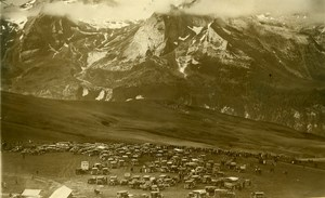 Cycling Tour de France Aubisque Pass Automobiles Old Photo Rol 1931