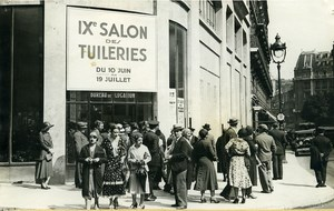IX Salon des Tuileries Arts Paris Visitors Fashion Old Photo Rol 1931