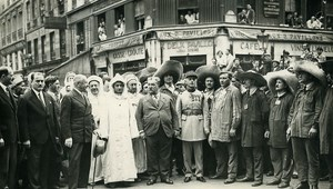 Sidi Mohammed Ben Yusef Sultan Morocco in Paris Forts des Halles Photo Rol 1931