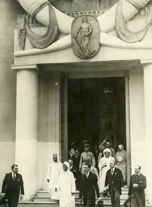 Paris Colonial Exhibition Sultan of Morocco & Marshal Lyautey old Photo Rol 1931