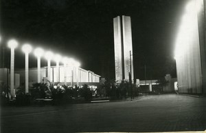 Paris Colonial Exhibition Entrance Gate by Night Lights old Photo Rol 1931