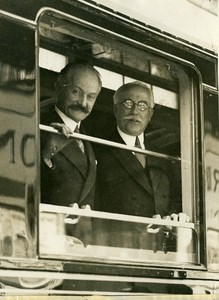 France Paris Président Albert Lebrun Gare Saint Lazare Old Photo Rol 1932