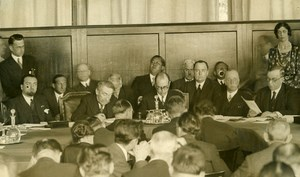 Switzerland Geneva Arthur Henderson Aristide Briand LN Meeting Photo Rol 1931