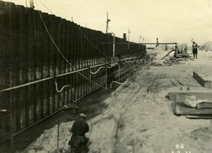 France Port of Dunkirk Dunkerque Extension Work West & South Dike Old Photo 1931