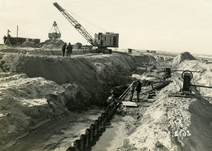 France Port of Dunkirk Dunkerque Extension Work West & South Dike Old Photo 1932