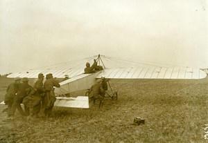 France Early Military Aviation Aviator Bleriot Monoplane Old Photo Meurisse 1912
